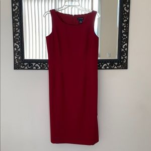 Ann Taylor red sheath dress